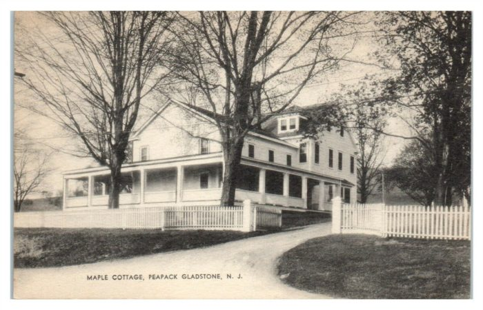Kate Macy Ladd Maple Cottage c1938 was just off Peapack Road at 44 Main Street today - Mr Local History Project