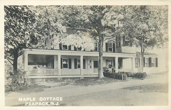 Kate Macy Ladd Maple Cottage was just off Peapack Road at 44 Main Street today - Mr Local History Project