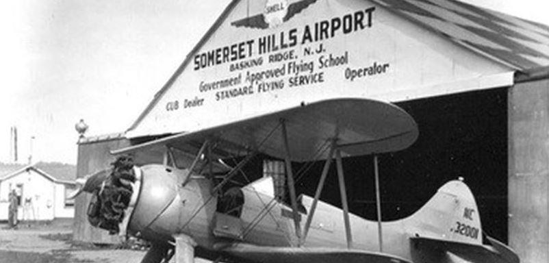 Looking back at the Somerset Hills Airport in Basking Ridge, NJ