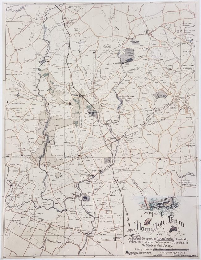 Somerset Hills Bridle Trail Map c1935 -Mr Local History Project