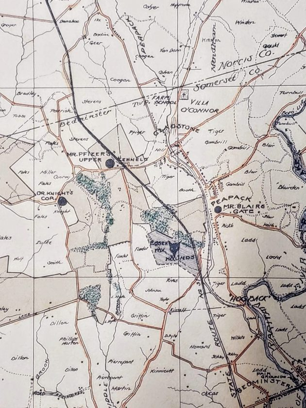 Somerset Hills Bridle Path Detail c1935 Mr Local History