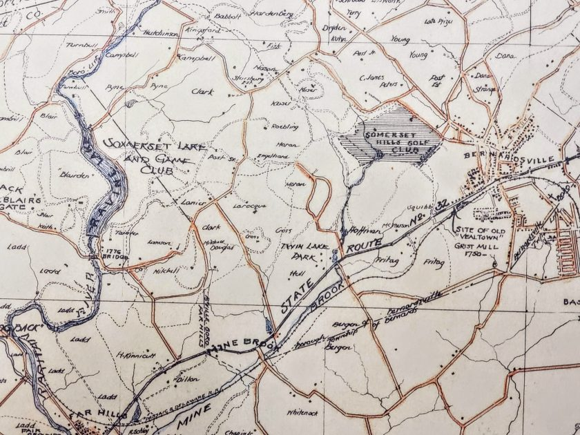 Somerset Hills Bridle Path Detail c1935 Mr Local History3
