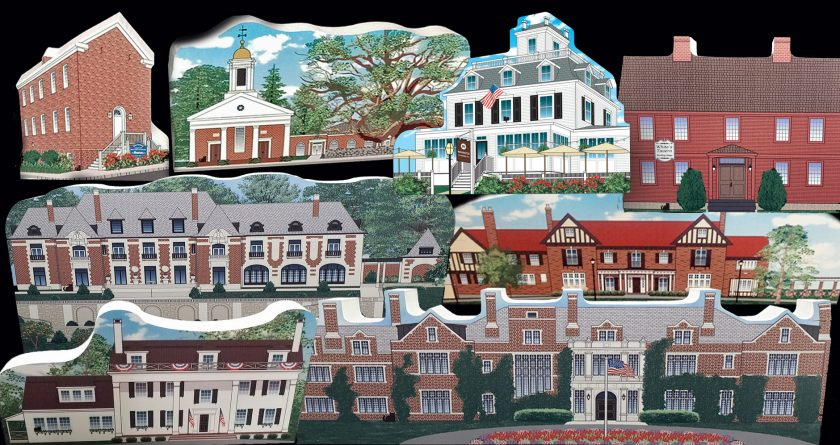 Somerset Hills Historic Cat's Meow Village Wooden Collectibles exclusively at the Mr. Local History Project