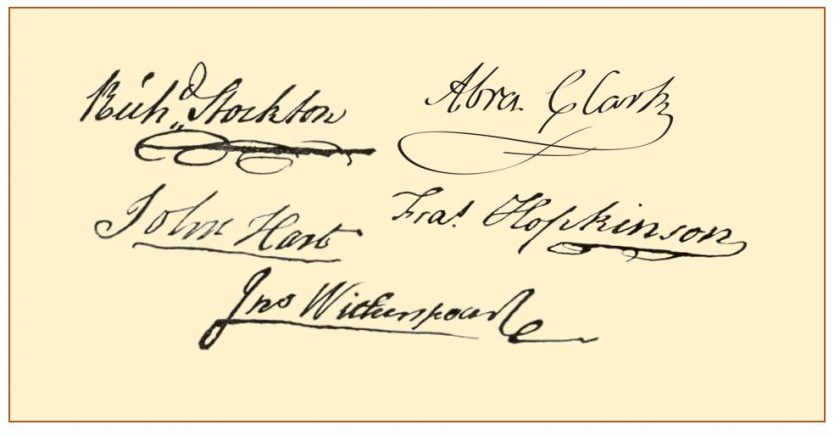 Five NJ Signers of the Declaration of Independence - Mr Local History