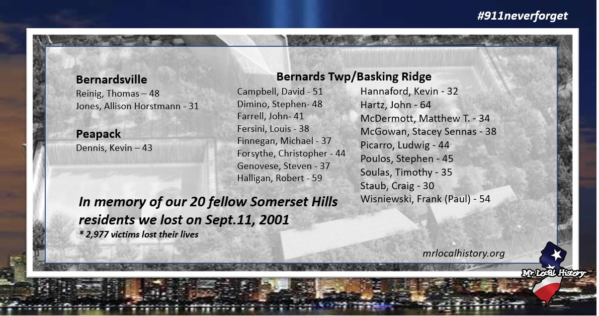 The family we lost on 9/11 from Basking Ridge, Bernardsville, and Peapack