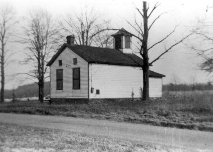 Lamington, Foot of the Lane School, pre-1930s burned