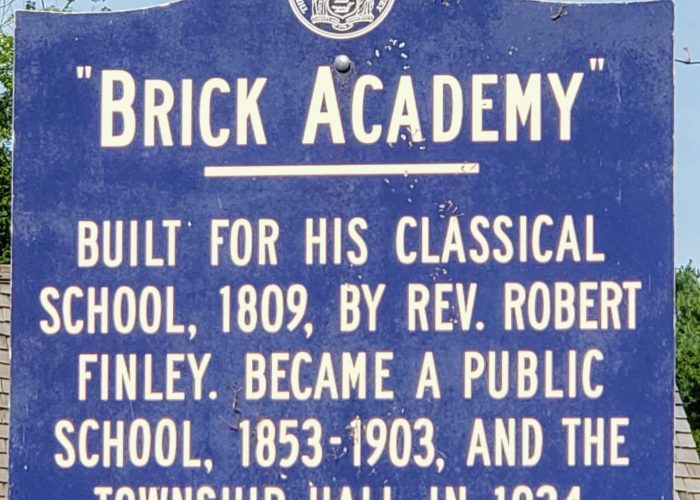 Brick Academy Historic Marker 2020 - Mr Local History Project