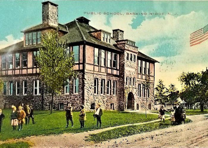 Maple Ave School 1910 Postcard in Basking Ridge