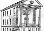 Brick Academy Sketch c1900 when the school was being considered for expansion