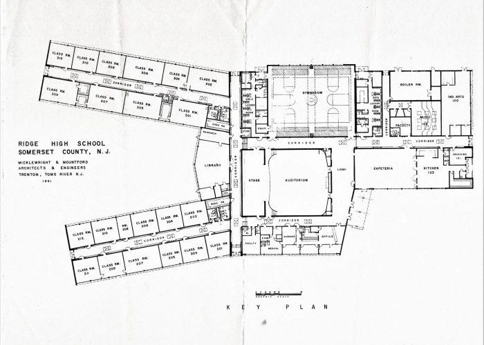 1961 Ridge High School floorplan