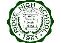 The Ridge High School logo was launched in 1961