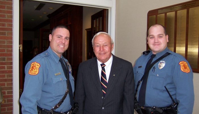 Legend Jack Nicklaus visited the opening of the new wing back in 2006 escorted by Bernards Township finest.