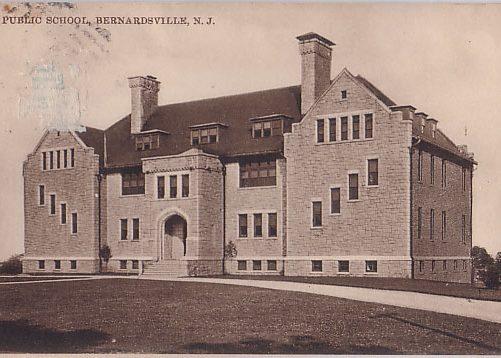 Olcott School Bernardsville just after it was erected.