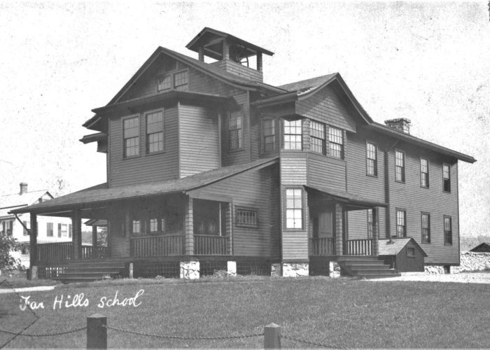 Far Hills School and Schley Hall on the Far Hills Fairgrounds c.1900