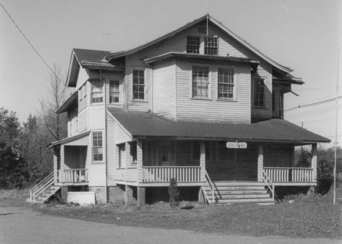 Far Hills School and Schley Hall before being Torn Down-Fairgrounds - 1968