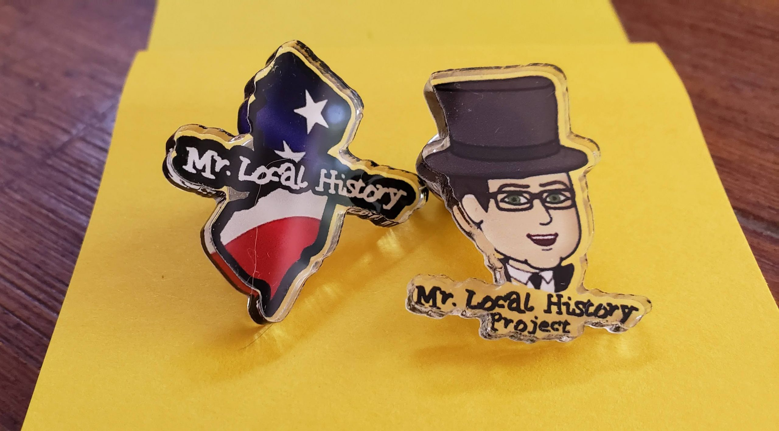Limited Edition Mr. Local History Project Collectible Pin