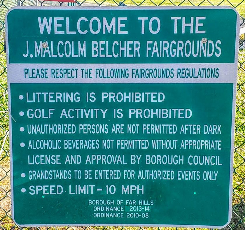 The Far Hills Fairground is named after J. Malcolm Belcher of Far Hills