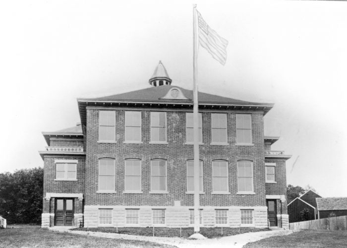 Peapack-Gladstone School, circa 1915. The school was part of the Bedminster Township at the time