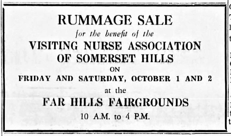 VNA-Rummage-Sale-Ad-1965 BV News - Mr Local History Project