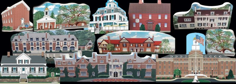 The New Jersey History Village Collection by Cat's Meow