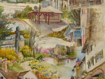 Local Artist Mark de Mos showcases a local icon in the Somerset Hills - Mr. Local History Project