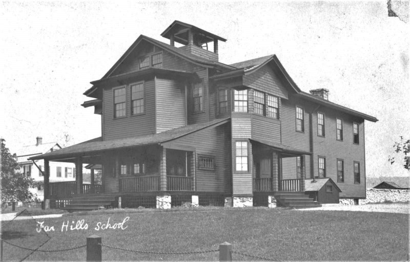 Schley's Far Hills School and Hall c.1900