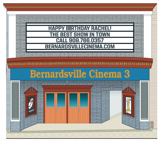 The Bernardsville Cinema. Part of the New Jersey Historic Village Collection