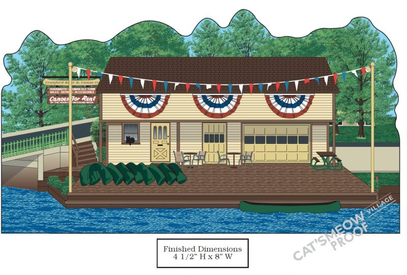 The Cranford Canoe Club is now part of the New Jersey HIstoric Village Collection by Mr. Local HIstory and the Cat's Meow Company