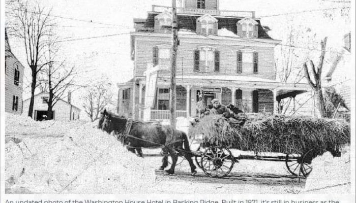 Washington House in the snow late 1800's