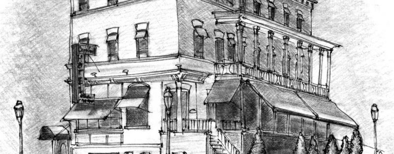 The Cranford Hotel Sketch Mr Local History Project