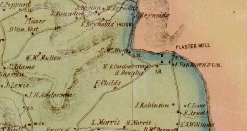 1850 map of Franklin Corners. Source: Camden, N.J. : L. Van Derveer, 1850.