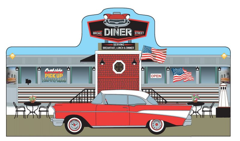 Get the New Jersey Historic Village Collectible of a Jersey Diner.