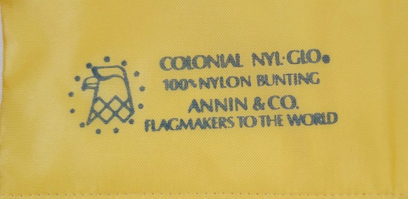 Both flags were made by the Annin Flag Company, the world's largest flag maker.
