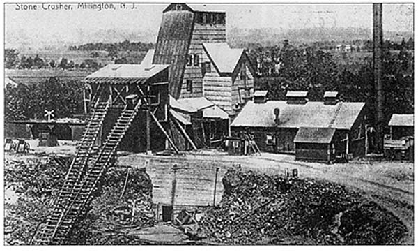 The Millington Quarry and stone crusher c. 1908