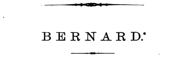 Bernard or Bernards - Which is it