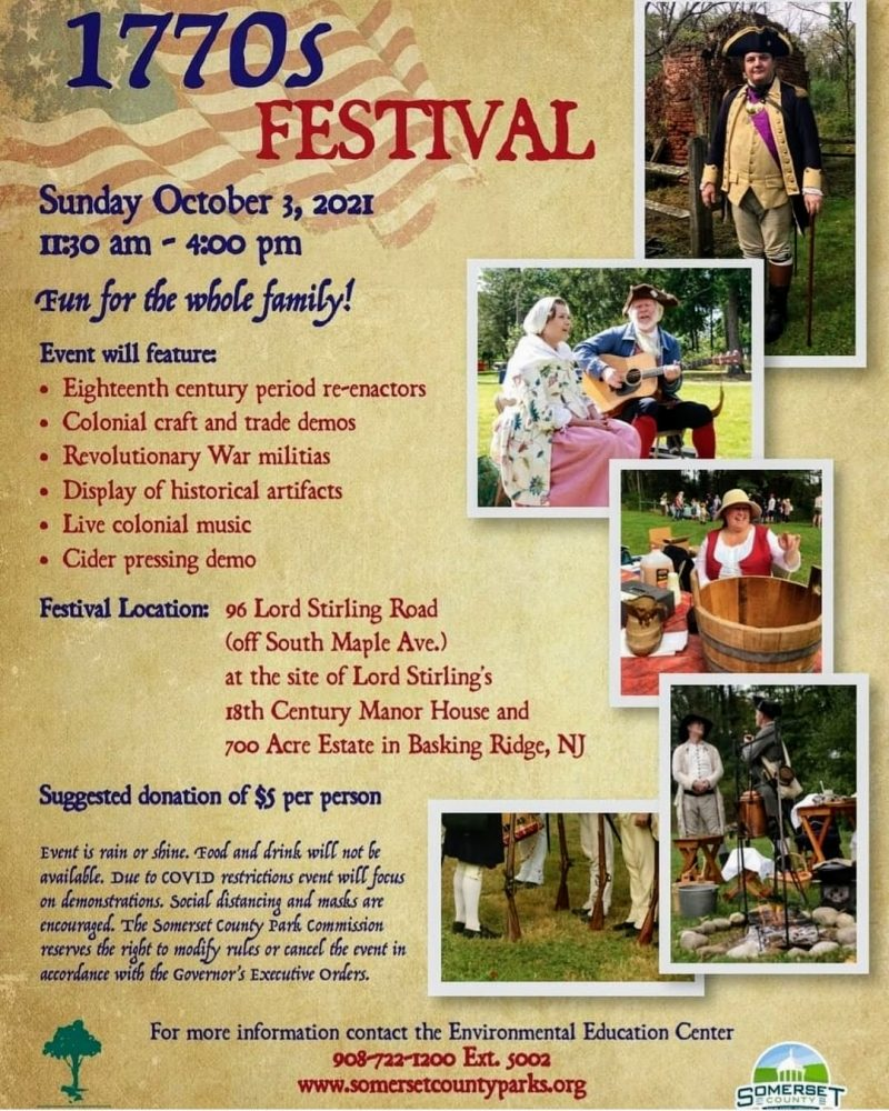 1770s Festival - Lord Stirling and Mr Local History
